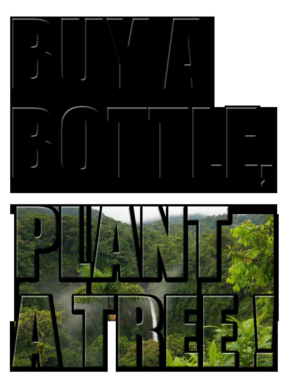 BUY A BOTTLE PLANT A TREE